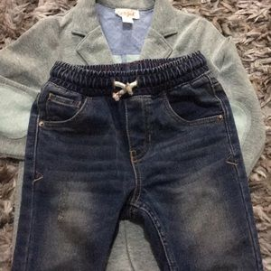 Cat & Jack Matching Sets - CAT& JACK boy set, grey jacket 3T, jeans pant 3T